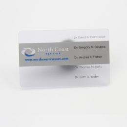 Frosted Plastic Card